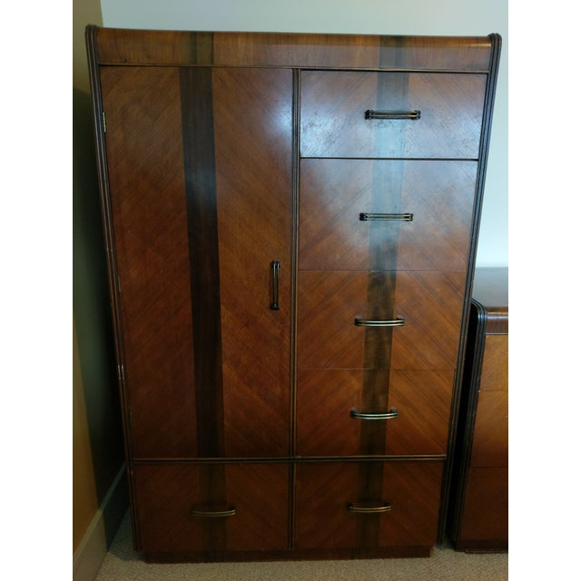 Vintage Wardrobe Chifferobe & Dresser - Image 2 of 9