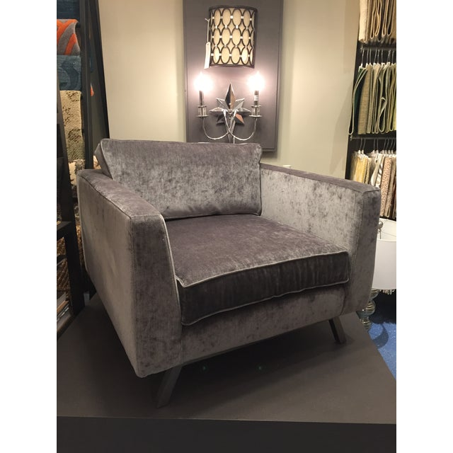 Textile Weiman Home Miles Velvet Chair For Sale - Image 7 of 9