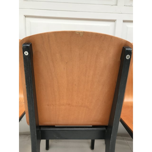 Vintage Rounded Bent Plywood Chairs - Set of 5 For Sale - Image 4 of 9