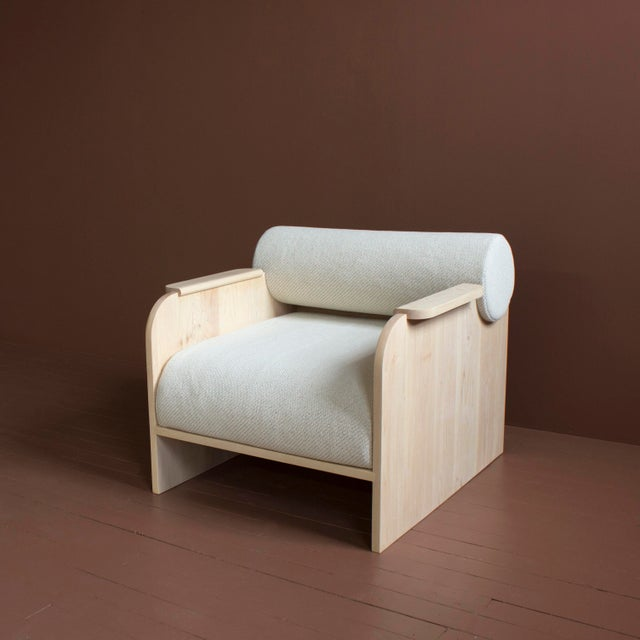 """Solid wood frame / zero voc oil finish / premium foam cushioning and upholstery Dimensions - 29""""h x 35""""d x 30""""w Seat -..."""