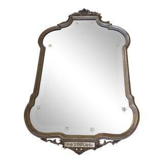 Vintage Venetian Carved Gilt Mirror For Sale