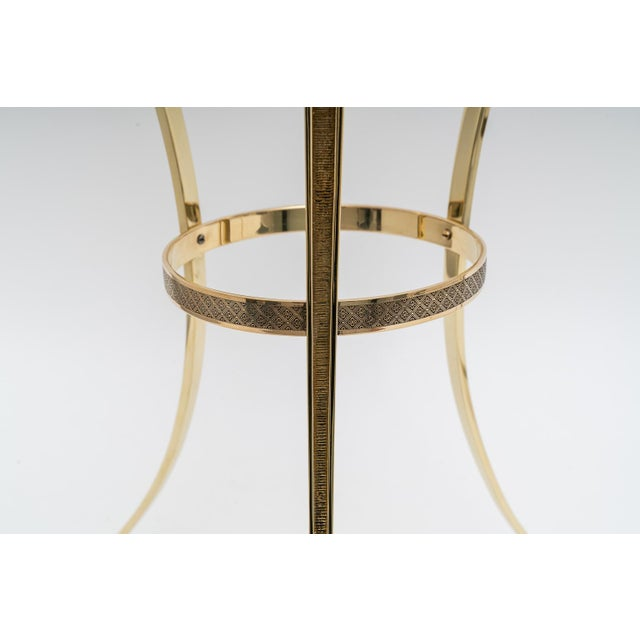 Early 20th Century French Regency Style Brass Side Tables by Maison Jansen - a Pair For Sale - Image 5 of 11