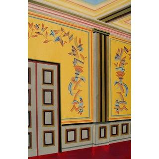 Antique 1929 Art Deco Interior Pochoir Print