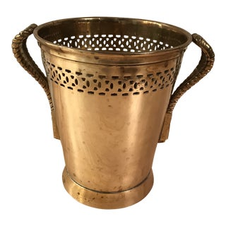 Solid Brass Vase Ice Bucket For Sale
