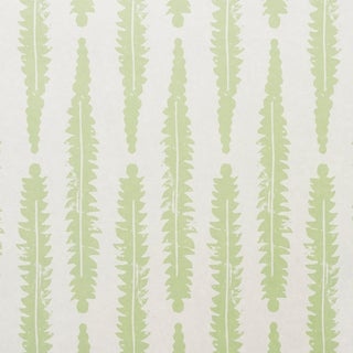 Schumacher x Molly Mahon Fern Wallpaper in Sage For Sale
