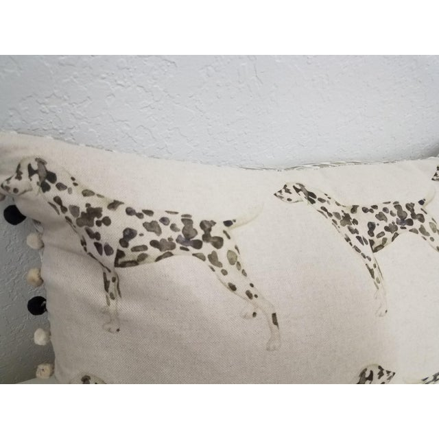 English Dalmations Bolster Pillow For Sale - Image 3 of 9