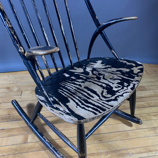Danish architect-designer Illum Wikkelsø designed in an organic modernist style. This rocking chair is his No#3 design...