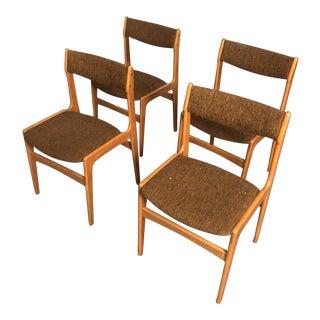 Mid Century Danish Teak Dining Chairs- Set 4 For Sale