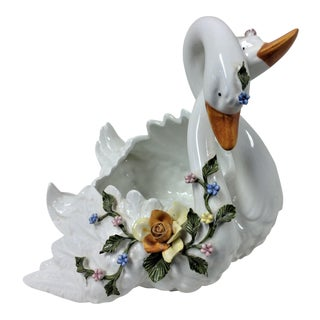 Capodimonte Entwined Swans - A Pair For Sale
