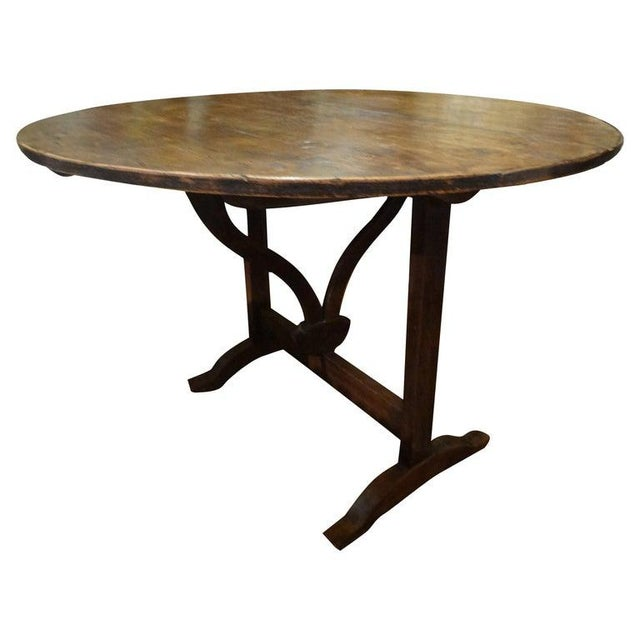 19th Century French Walnut Wine Tasting Table From Burgundy For Sale - Image 12 of 13