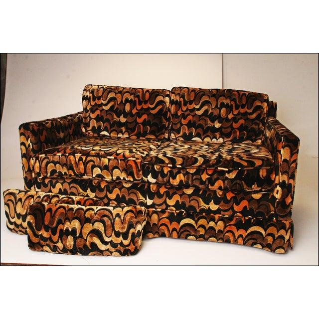Mid-Centuryack Lenor Larsen Upholstered Loveseat - Image 7 of 11