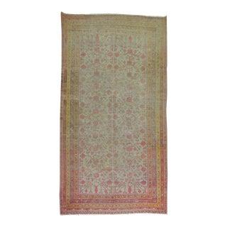 Worn Antique Gallery Khotan Rug, 6'4'' X 12'10'' For Sale