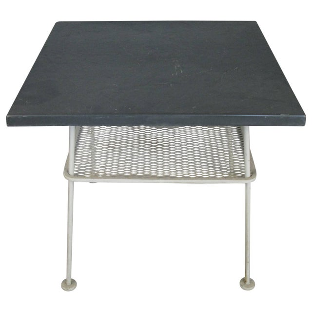 Gray Vintage 1950s Sculptura Wrought Iron Table by Russell Woodard For Sale - Image 8 of 8