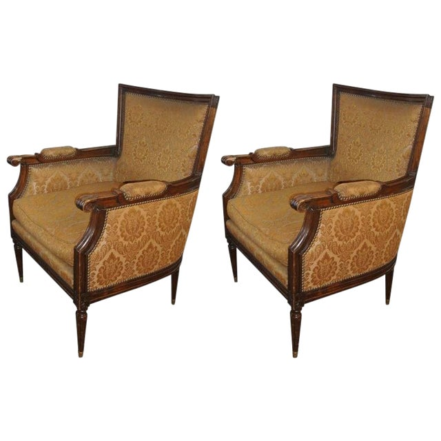 Pair of Louis XXI Style Armchairs by Maison Jansen For Sale