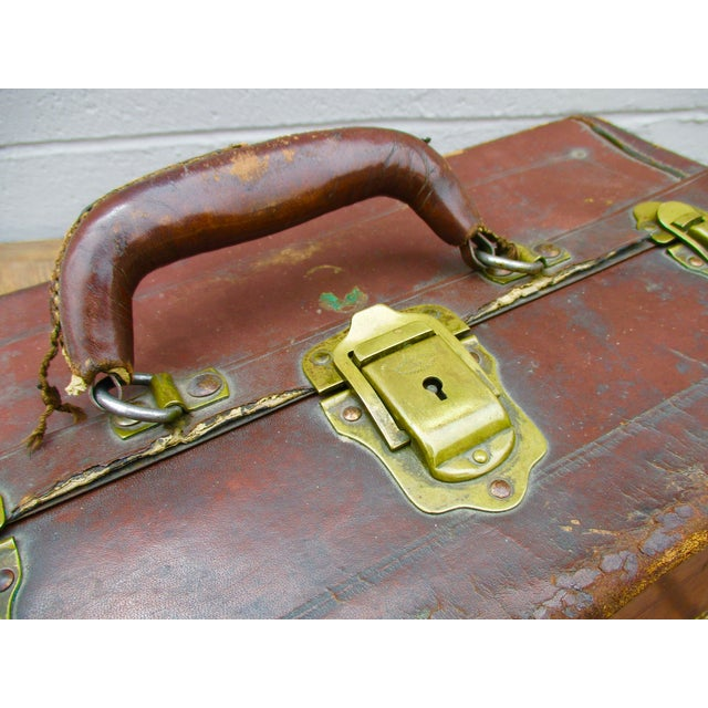 Antique Leather Fishing Tackle Box For Sale - Image 11 of 11