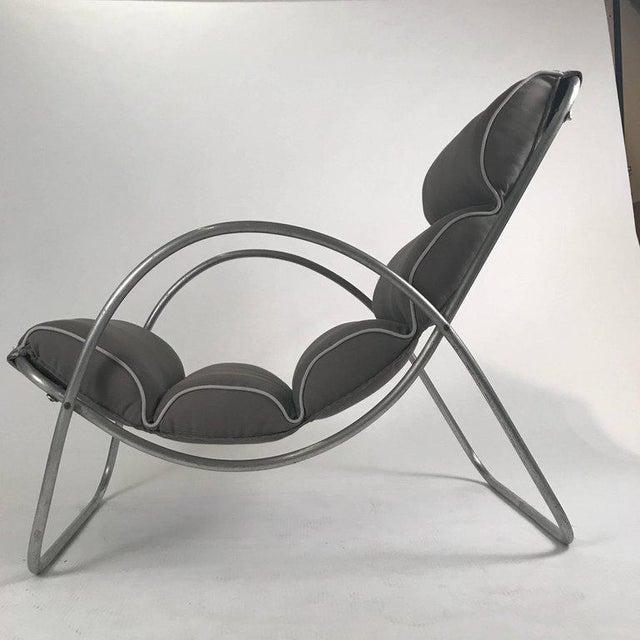 Pair of Halliburton Lounge Chairs, 1930s Art Deco Machine Age Modernist Design For Sale - Image 4 of 10