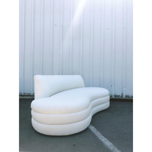 Vladimir Kagan Curved Couches After Vladimir Kagan - a Pair For Sale - Image 4 of 13