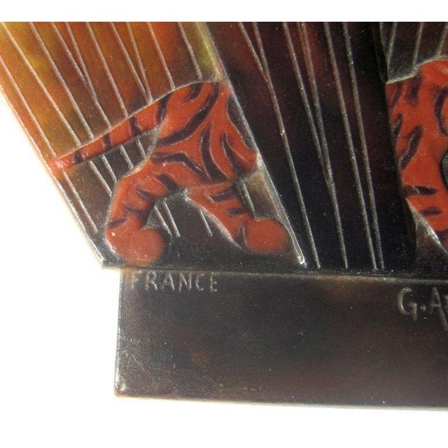 Gabriel Argy-Rousseau Gabriel Argy-Rousseau Pate De Verre Glass Lighted Wall Plaque For Sale - Image 4 of 7