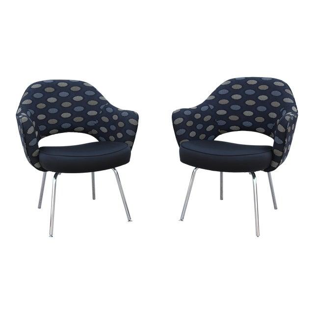 1950sMid-Century Modern Knoll Eero Saarinen Executive Arm Chairs - a Pair For Sale