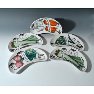 Piero Fornasetti Legumi Set of Five Demi Lune Side Dishes- Set of 5 Preview