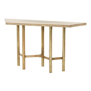 Contemporary Brass Console Table For Sale