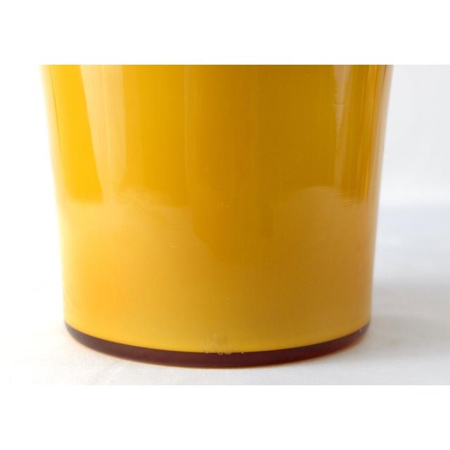 1990s Blue & Yellow Asymmetric Murano Glass Vase by v. Nason & C., Italy For Sale - Image 5 of 7