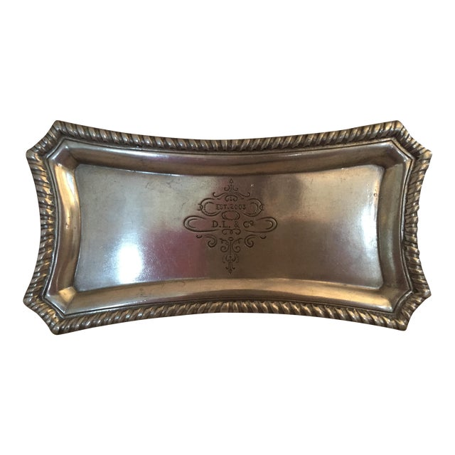D.L. & Co. Pewter Presentoir Tray For Sale