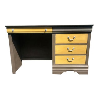 1980s Vintage French Country Broyhill Writing Desk For Sale