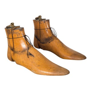 Antique Wood and Bronze Shoe Last C.1920 For Sale