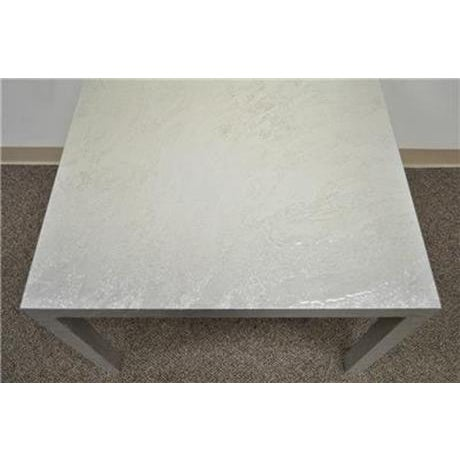 Vintage Mid Century Modern Silver Square Parsons Coffee Side Occasional Table - Image 8 of 12