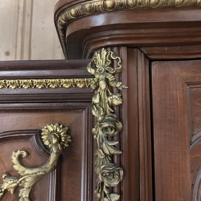 19th Century Louis XVI Bronze Mounted Mahogany Armoire by Schmit of Paris For Sale - Image 9 of 13