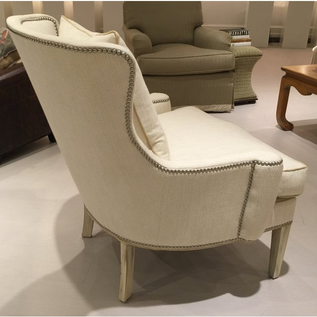 Southwood Transitional Modified Wing Chair For Sale - Image 4 of 6