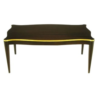Davidson Ltd Ribbon Mahogany & Parcel Gilt Regency Coffee Table For Sale
