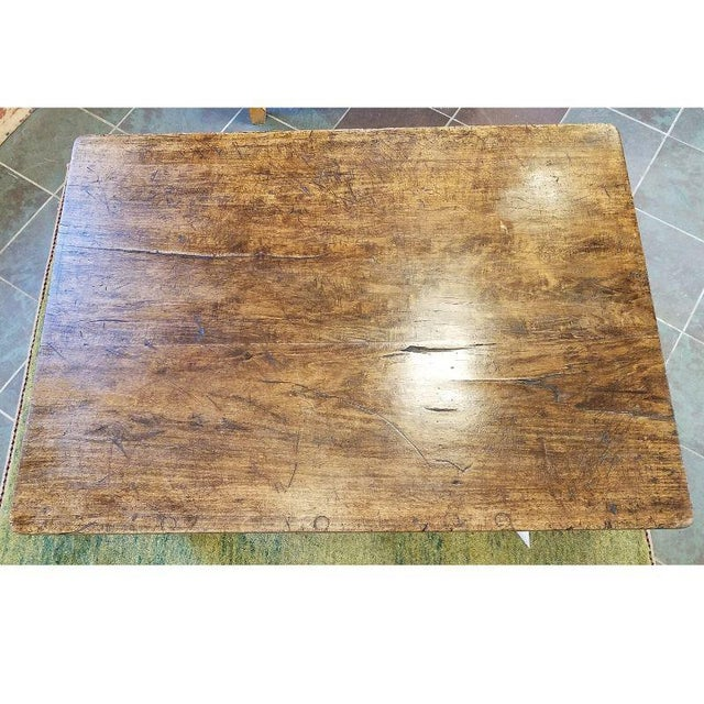 1920s Rustic French Oak Coffee Table For Sale - Image 5 of 10