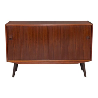 Small Two-Door Danish Modern Rosewood Sideboard For Sale