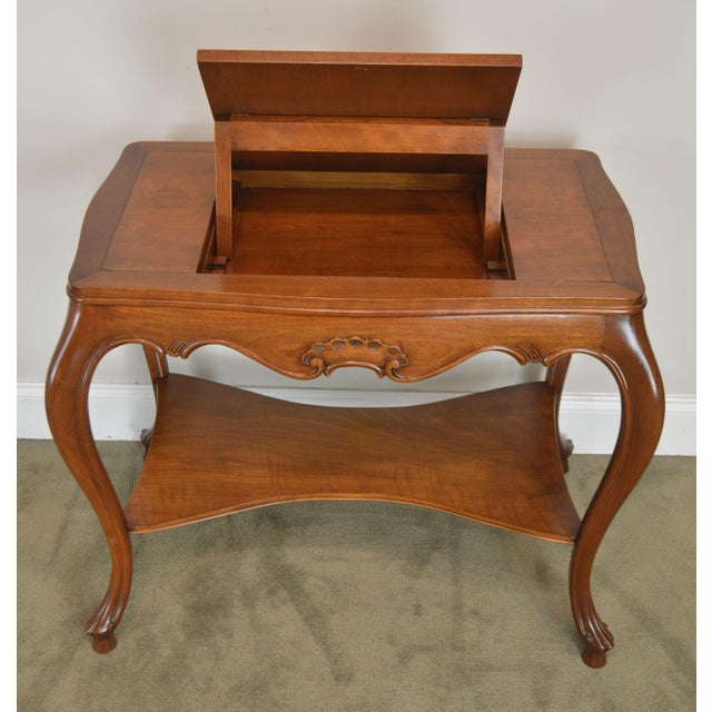Italian Provincial Louis XV Style Game Table W/ Chess Board Top For Sale - Image 12 of 13