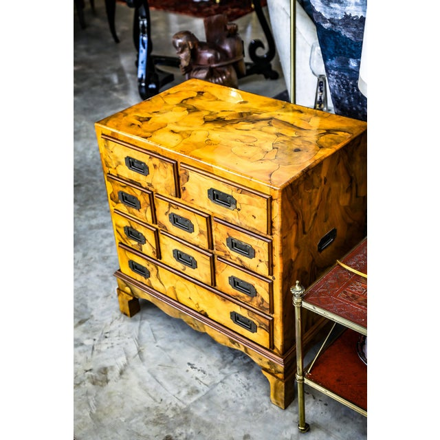 Mid-Century Modern Mid-Century Modern Olive Wood Chest of Drawers For Sale - Image 3 of 9