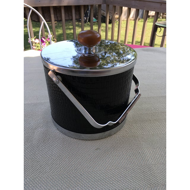 White 20th Century Art Deco Style Chrome Ice Bucket For Sale - Image 8 of 8