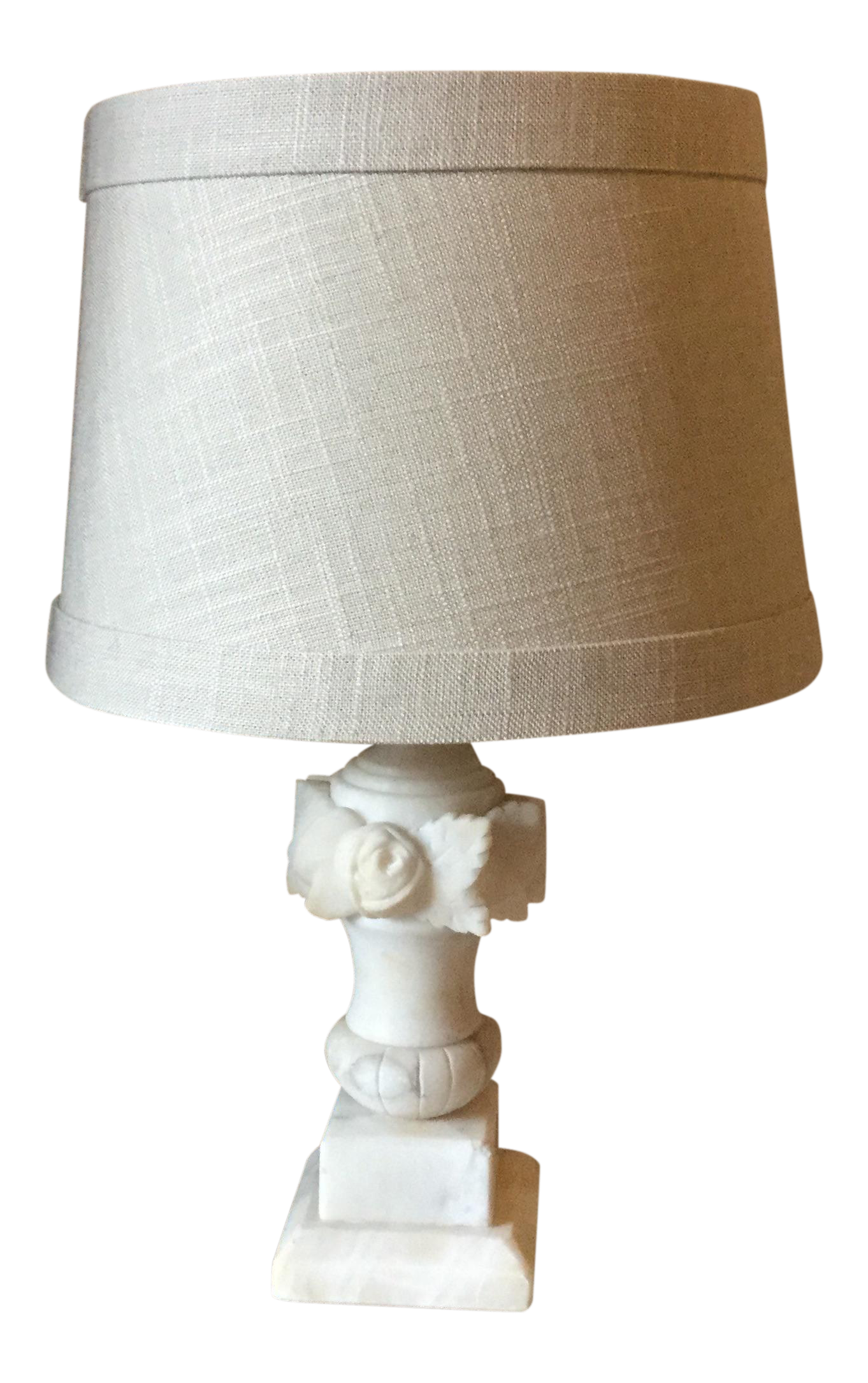 1930s Art Deco Restored White Marble Table Lamp Chairish
