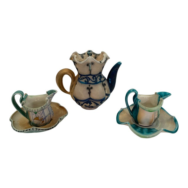 Handmade Pottery by Julia Galloway -Set of 3 For Sale