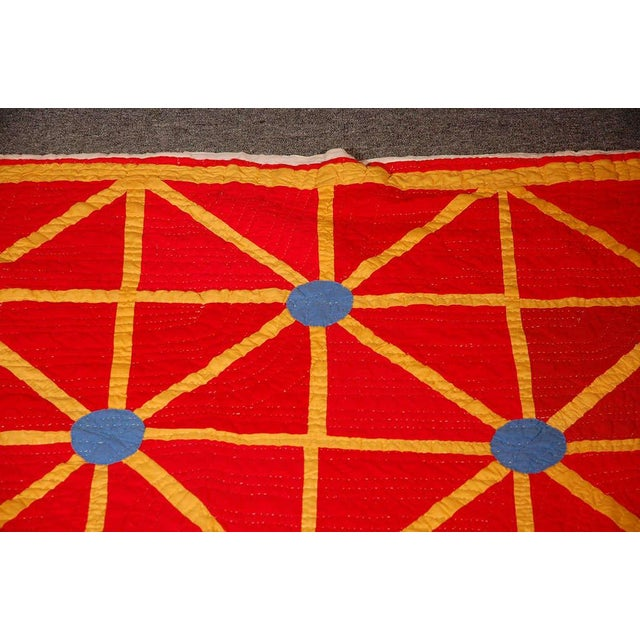 Early 20th Century Folky and Early 20th Century Afro-American Quilt from Alabama For Sale - Image 5 of 7