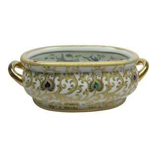 Late 20th Century Chinese Arabesque Fish Bowl For Sale