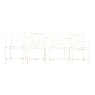 Salterini Wrought Iron Chairs - Set of 4 For Sale