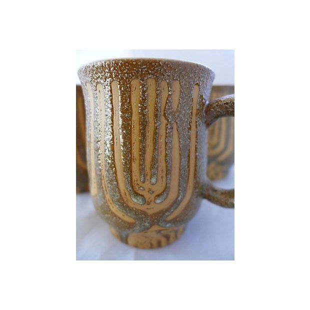 Mid-Century Rustic Coffee Mugs - Set of 4 - Image 4 of 6