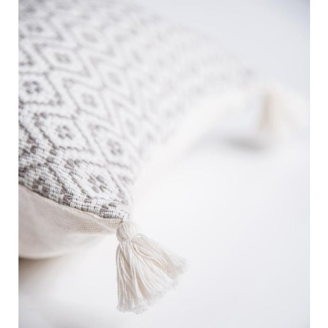 Mexican Grey Handwoven Pillow - Image 2 of 7