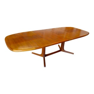 1970s Dyrlund Teak Expandable to 9' Dining Table For Sale