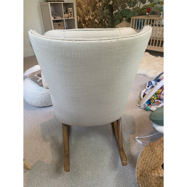 2010s Anthropologie Finn Rocking Chair For Sale - Image 5 of 7