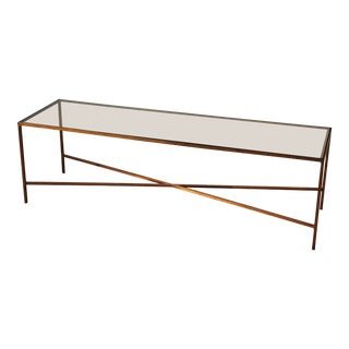 Mexican Modernist Bronze Coffee Table For Sale