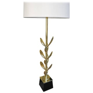 Mid-Century Modern Brass Sedum Leaf Table Lamp by Stiffel For Sale