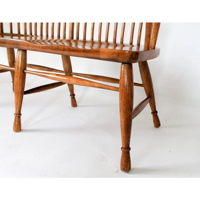 High Back Solid Oak Bench - Image 8 of 11